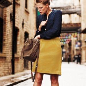 Boden Pique Mini Skirt in Mustard